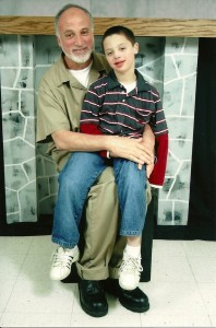 Ghassan Elashi and his son Omar in a photo taken in prison. (Courtesy of the Elashi family)